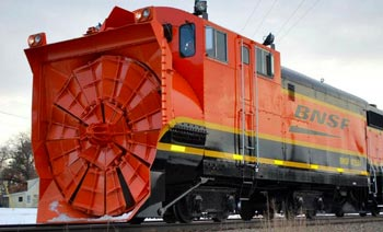 BNSF Snow Blow Railroad Tracks