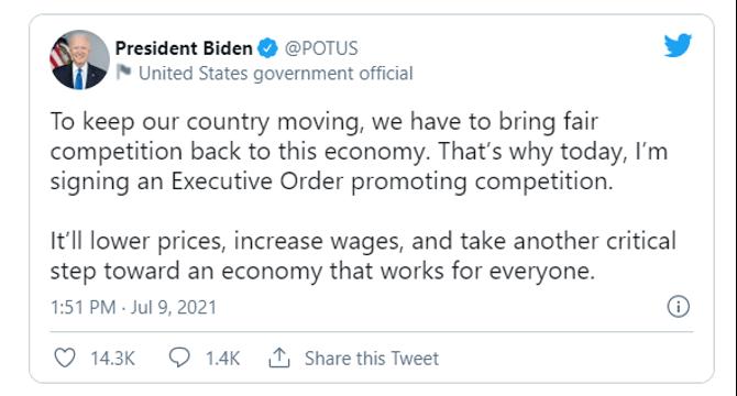 executive order tweet